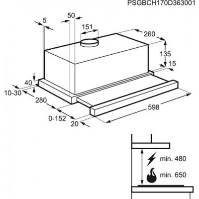 Ugradni aspirator EFP6500X