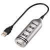 USB 2.0 razdelnik 1:4 srebrni 39690