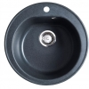 Okrugla granitna sudopera venera fi90 crna 113000
