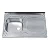 Nasadna jednodelna inox sudopera fi60 123796