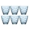 Čaša za vodu Flora plava 25 cl 6/1  384400P